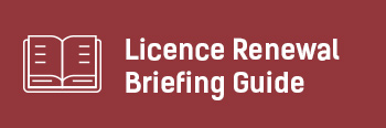 Licence Renewal Button