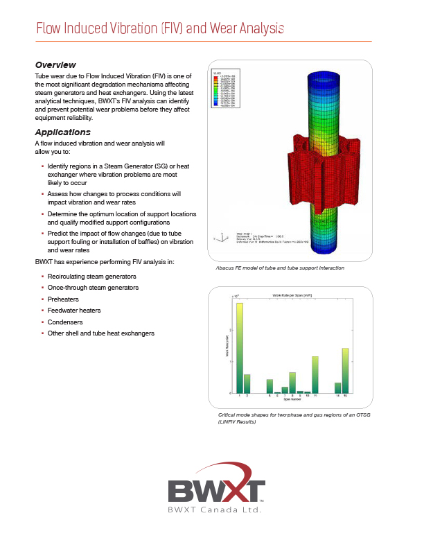 Flow Induced Vibration and Wear Analysis